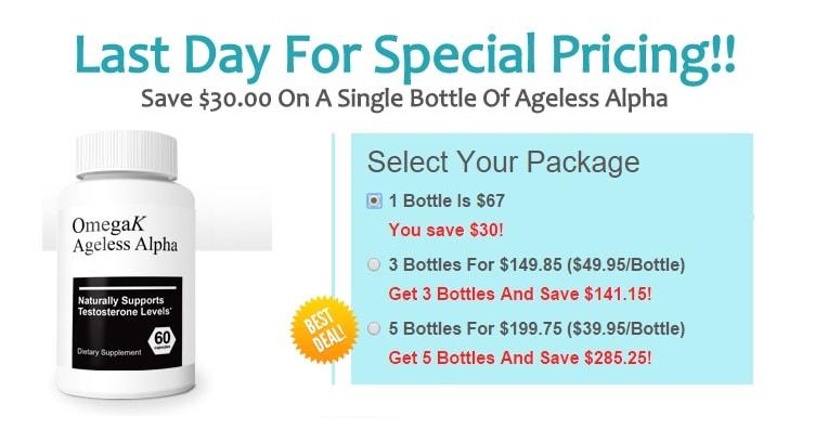 ageless alpha pricing
