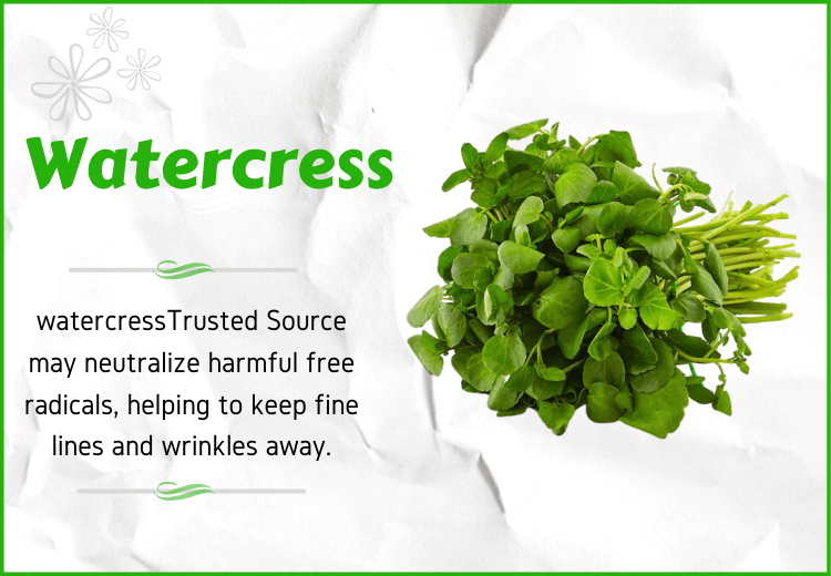 Watercress for anti aging